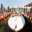 Water taxi  on San Marco canal in Venice — Stock Photo