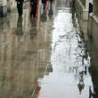 lluvia en Londres — Foto de Stock