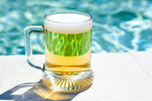 Glass of cold beer — Stock Photo
