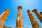 Dorian columns of Temple of Heracles in Agrigento, Sicily — Stock Photo