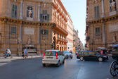 Quattro Canti - baroque square in Palermo, Sicily — Stock Photo
