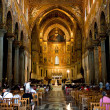 Interior of Duomo di Monreale, Sicily - Stock Photo