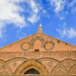 Frieze of ancient medieval Duomo di Monreale - Stock Photo