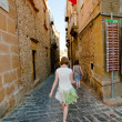 Stock Photo: Tourist sightseeing in Piazza Armerina, Sicily