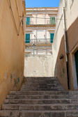 Steps between houses — Stock Photo