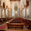 Interior of the medieval Cathedral in Cefalu, Sicily, Italy - ストック写真