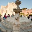 Cathedral square in Taormina, Sicily — Foto Stock #6325801