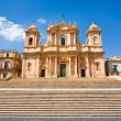 The Cathedral in late Baroque style town Noto, Sicily, Italy — Stock Photo
