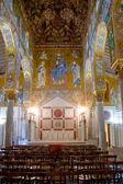 Pintura de pared en palatino chape en palazzo reale en palermo — Foto de Stock