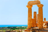 Temple of Juno in Valley of the Temples in Agrigento, Sicily — Stok fotoğraf
