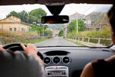 Driving car — Stockfoto