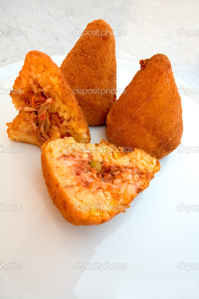 Arancini - traditional fired rice fastfood in Sicily — Stock Photo #6325752