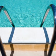 Outdoor pool handle - Stock Photo