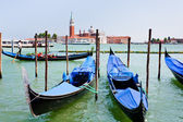 Gondolas on San Marco Canal, Venice — Photo