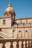 Statue of fountain Pretoria in Palermo — Stock Photo