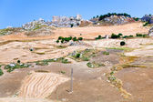 Deserted village and worked grounds in Sicily — Stock Photo
