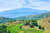View on Etna in summer day — Stock Photo