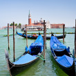 Royalty-Free Stock Photo: Gondolas and view on San Giorgio Maggiore in Venice