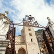 Gateway to Cathedral-Basilica of Cefalu - Stock Photo