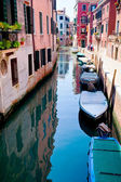Boats on canal in Venice, Italy — Stock Photo