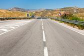 Tom motorvägen i sommardag — Stockfoto