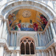 Gold mosaic in gate portal of San Marco Cathedral Basilica — Stock Photo #6630311