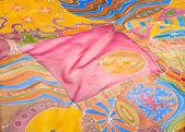 Abstract pattern on silk — Stock Photo