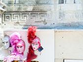 Máscaras de carnaval veneziano — Foto Stock