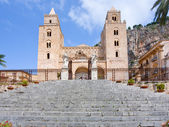 Medieval norman Cathedral in Cefalu, Sicily — Stock Photo