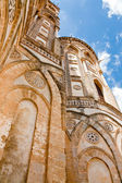 Ancient wall of norman style Duomo di Monreale, Sicily, Italy — Stock Photo