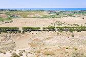 Rural view on Mediterranean coast near Agrigento, Sicily — Stock Photo
