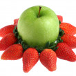 Green Apple and Strawberry — Stock Photo #5669565