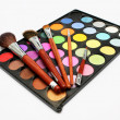 Colorful Eyeshadow with Blusher — Stockfoto