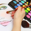 Stock Photo: Makeup Sketching