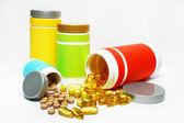 Tablety a kapsle — Stock fotografie