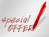 Advertising special offer — Stock Photo
