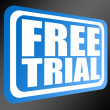 Stock Photo: Blue free trial
