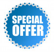 Special offer tag - Stock Photo