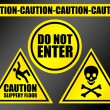 Stock Photo: Caution signs