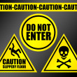 Caution signs — Stock Photo