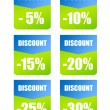 Discounts labels — Stock Photo