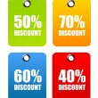Discount Labels — Stock Photo