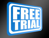 Blue free trial — Stock Photo