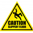 Caution slippery floor sign — Stock Photo #5735324