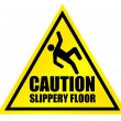 Caution slippery floor sign — Stock Photo