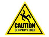 Caution slippery floor sign — Stock Photo