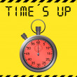 Stock Photo: Time`s up