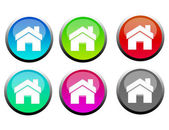 Home buttons — Stock Photo