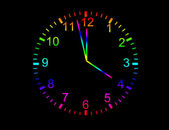 Colored clock — Stock Photo