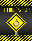 Time is up signal — Stock Photo
